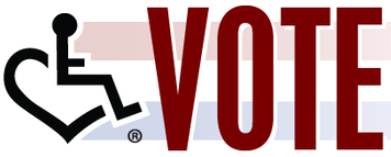 Disabled Voting Rights Logo from 3ELove.com