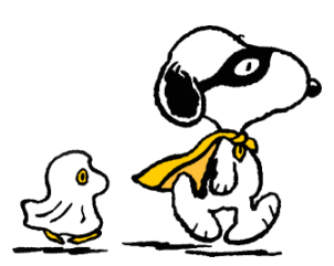 Snoopy and Woodstock Love Halloween! In costumes!